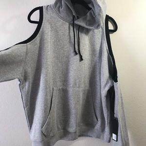 LF Tops - NWT🎈LF oversized open shoulder hoodie